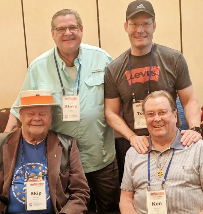 Skip and Steve Thatcher with Todd and Ken Buckner.
