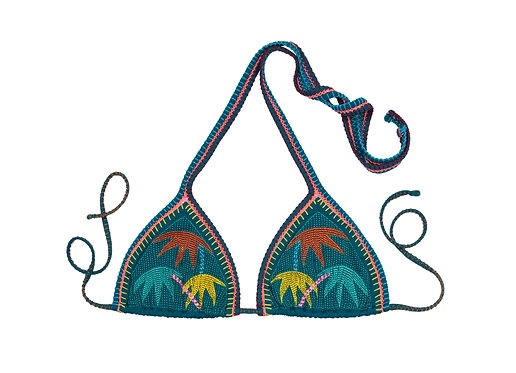 Anywhere Embroidered Triangle