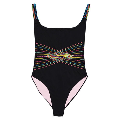 Electric Love Embroidered One Piece