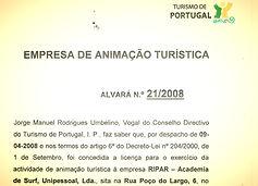 Surf school peniche portugal tourism licence