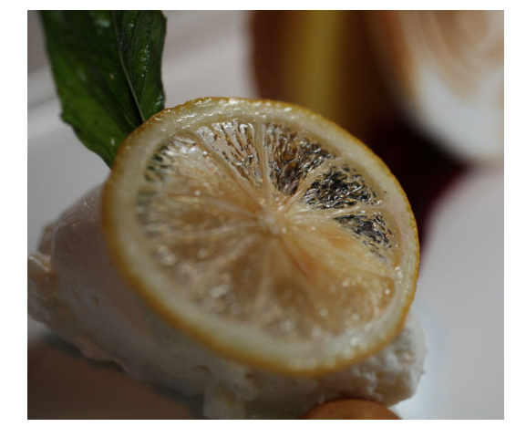 Meyer Lemon Basil Tart with a Blueberry Compote