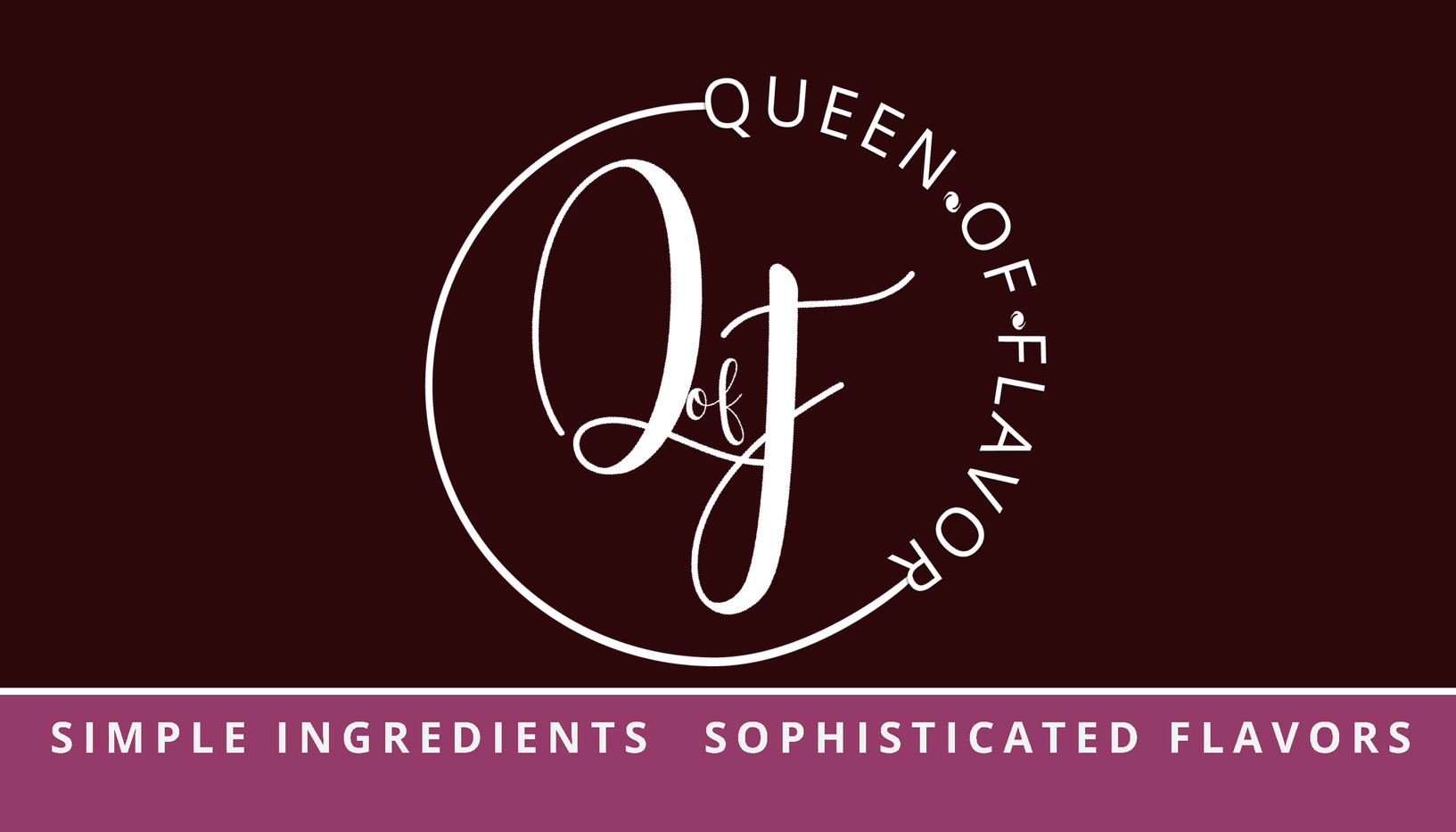 Front Business Card for Queen of Flavor