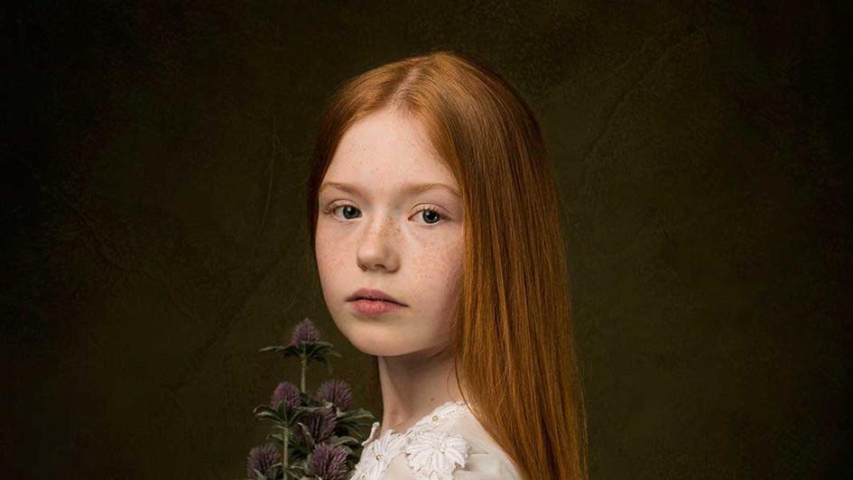 Layla, child fine art portraiture, child model edinburgh, studio portraits, family