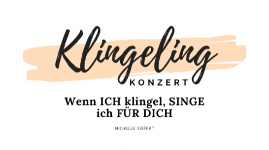 Klingelin Konzert, Klingeling, wenn ich klingel, singe ich für dich.Türkonzert, Telegram, Telegramm und musikalische Momentepost. Grüße mit Musik für die Liebsten. Sängerin und Hochzeitssängerin aus Hannover. Kann auch gerne mit Video verewigt werden. DJ Zejna. Its your deejay!