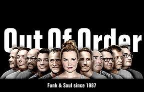 Out of Order Bild mit verschiedenen Künstlern, 30 jahre Out of Order, Funk und Soul und Blasmusik . Michelle Seifert aus Hannover, Eventsängerin, Hochzeitssängerin, Livegesang mit genialer Band.