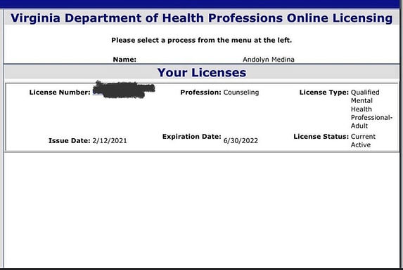 Virginia Board of Counseling - Qualified Mental Health Profession Certification
