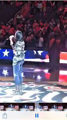 Performing the National Anthem for Washington Mystics