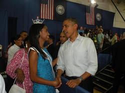 Meeting President Barack Obama