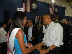 Andolyn with President Barack Obama