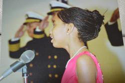 Andolyn Medina singing the National Anthem