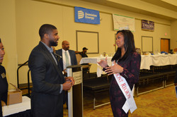 Andolyn Medina with Don J. Carey III, Retired NFL Cleveland Browns Player