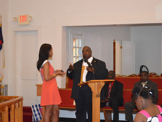 Presentation at Greater St. James AME Church in Lake City, SC.