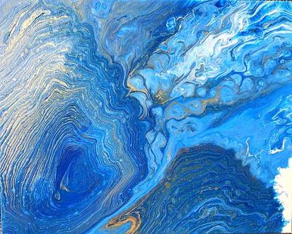 Deep calls to deep._16x20 [SOLD]__#fluid