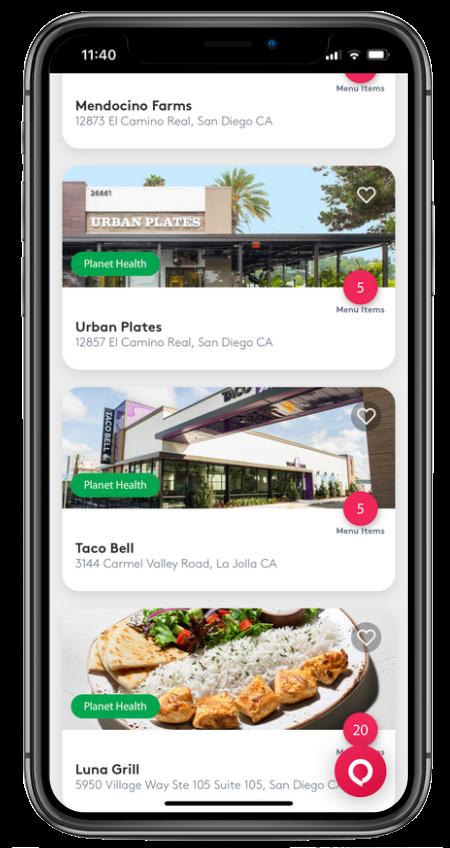 MyMenu Concierge restaurant nutrition app