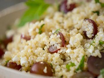 Grape, Feta, and Mint Quinoa Salad