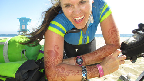 peak experience California coast somewhere between LA and Marin county (2015). Henna by Anita Hummingbird.