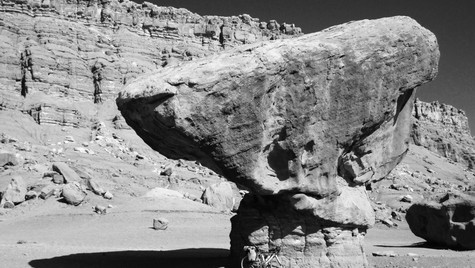 Balancing Rock in the remote desert (2015)