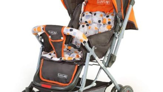 LuvLap Sunshine Stroller/Pram, with Mosquito net, for Newborn Baby/Kids