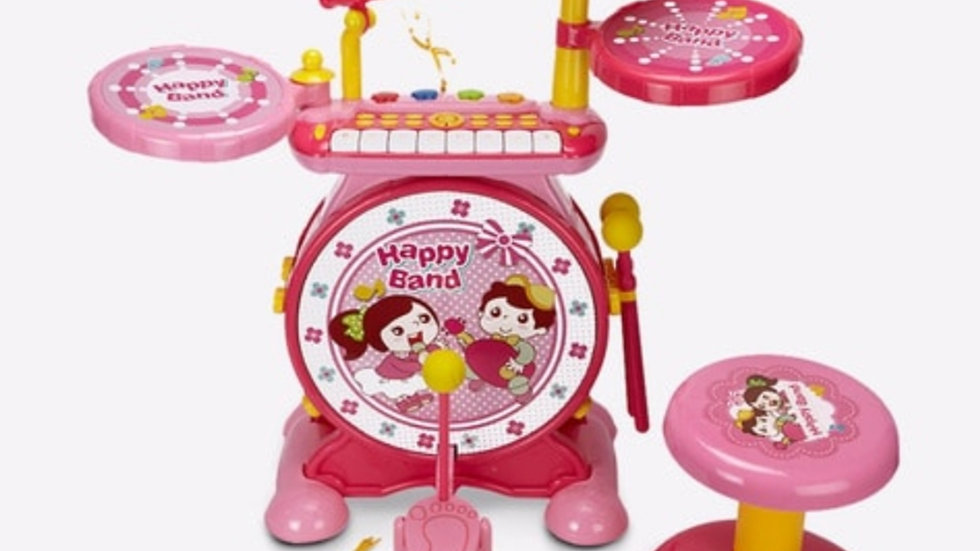 Hamleys Drum Set Series With Microphone and Chair