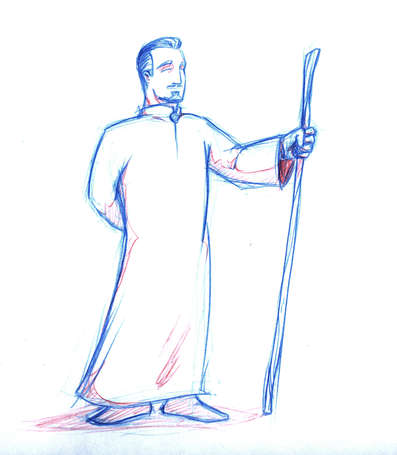 Concept Drawing 14 Prophet's Visit