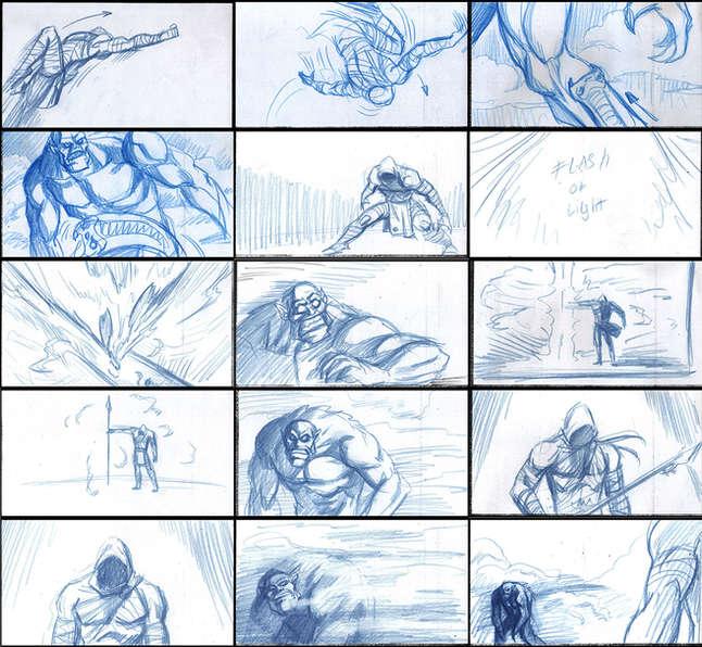 Storyboad Page 04 Ancients & Immortals