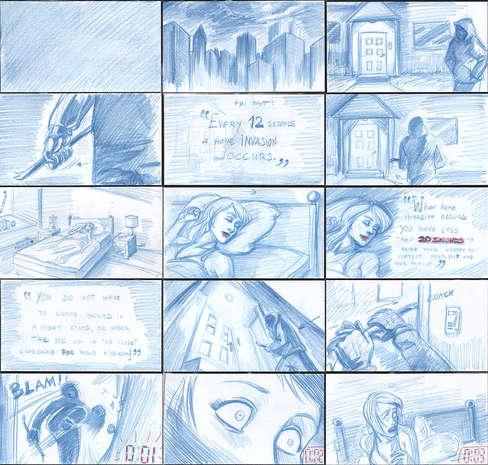 Storyboad Page 01 Hidden Holster