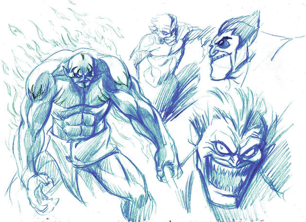 Monsters Concept Drawing 03