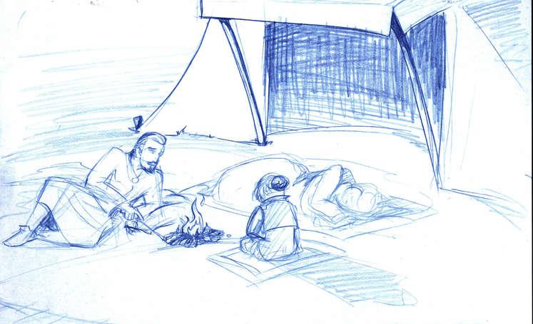 Concept Drawing 02 Prophet's Visit