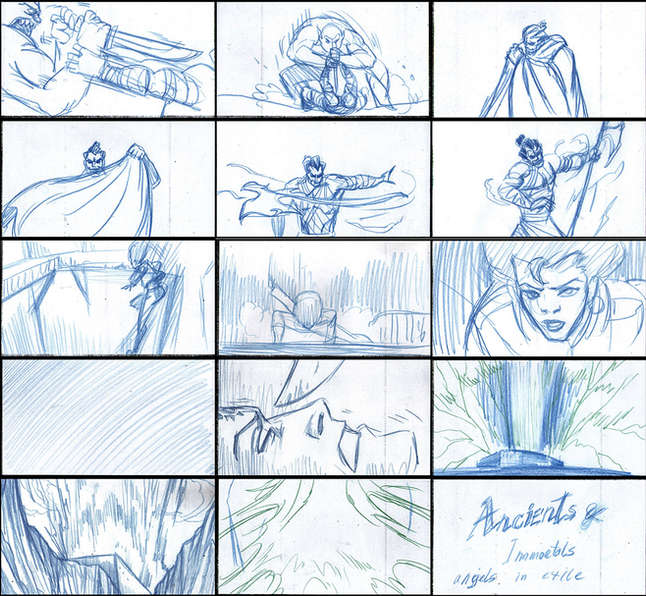 Storyboad Page 14 Ancients & Immortals