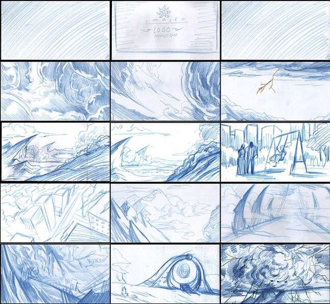 Storyboad Page 01 Ancients & Immortals