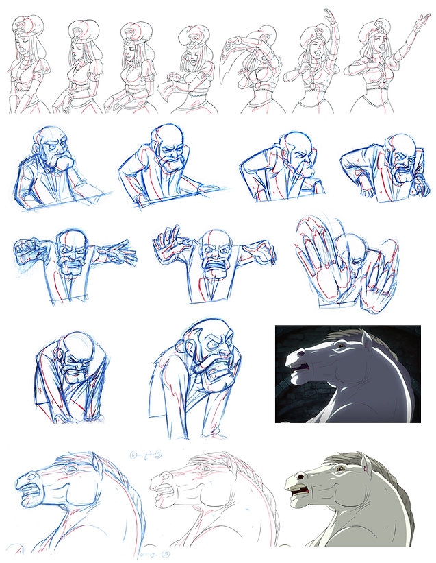 2D animation examples from the Phantom of the Opera Animated