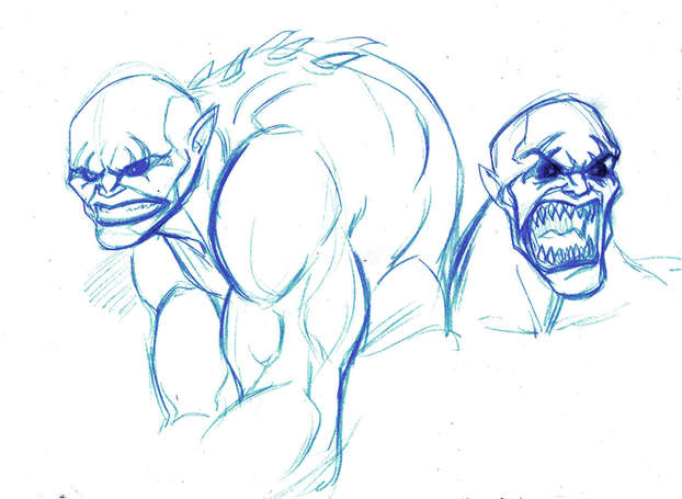 Monsters Concept Drawing 02