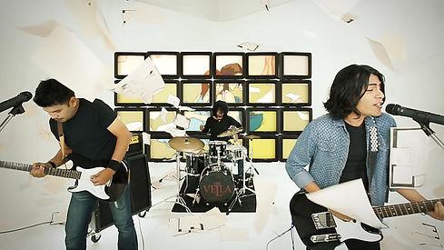 Shot from the animated music video Jangan Rembali