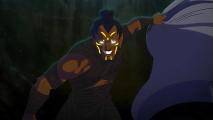 Shot from the animated trailer for Ancients and Immortals