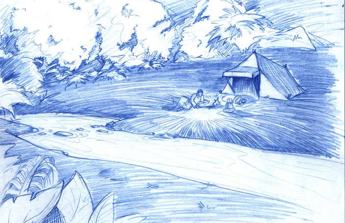 Concept Drawing 01 Prophet's Visit