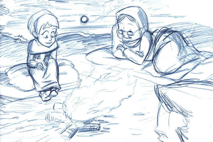Concept Drawing 03 Prophet's Visit