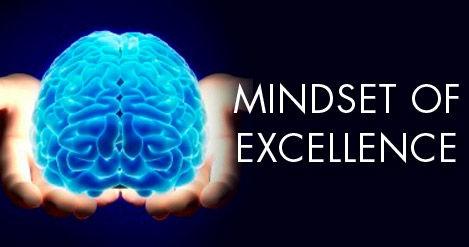 Exzellente Einstellung und Denkweis