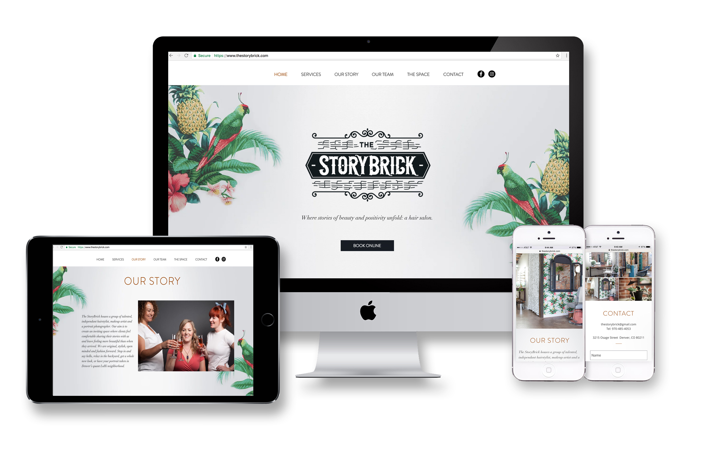 The Storybrick Website Design