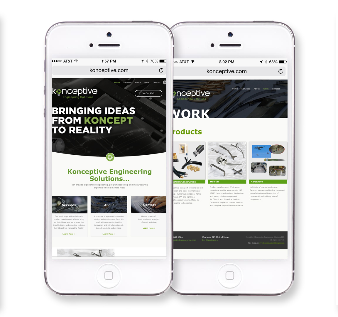 Konceptive mobile website design