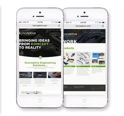 Konceptive mobile website design