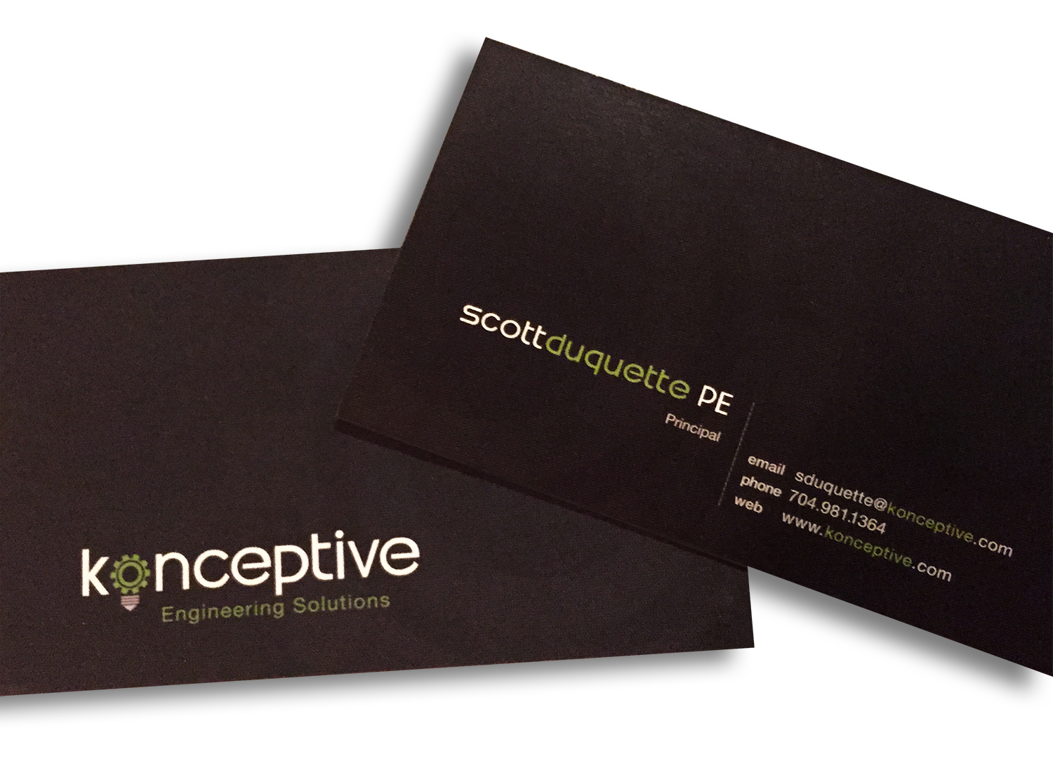 konceptive business card design
