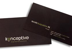 konceptive business card design