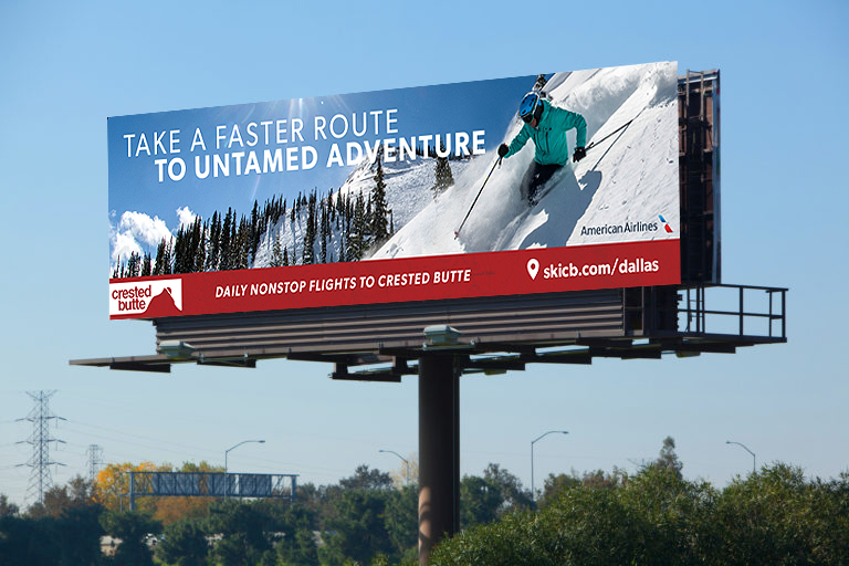 Crested Butte Resort Billboard