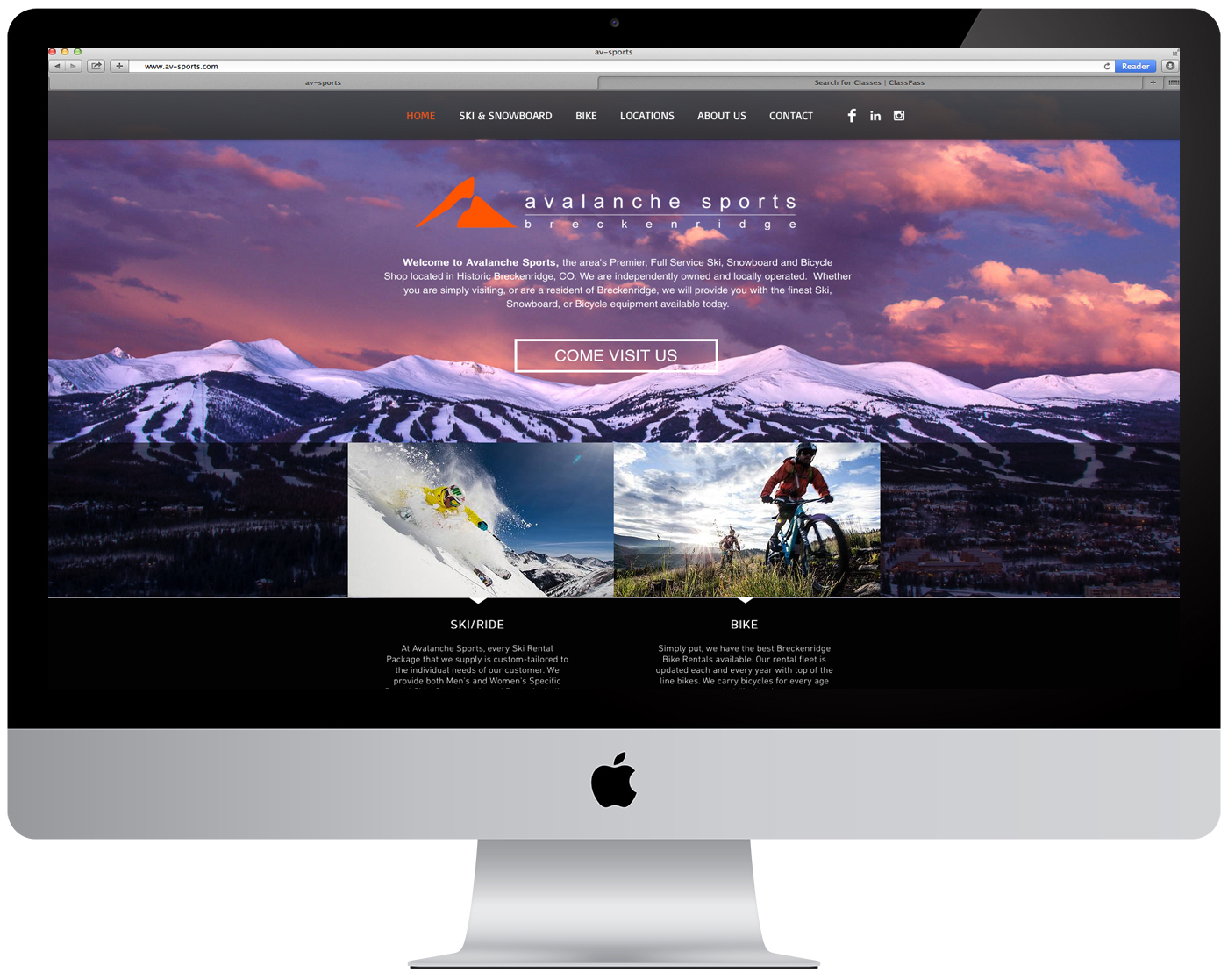 Avalanche Sports Website Design