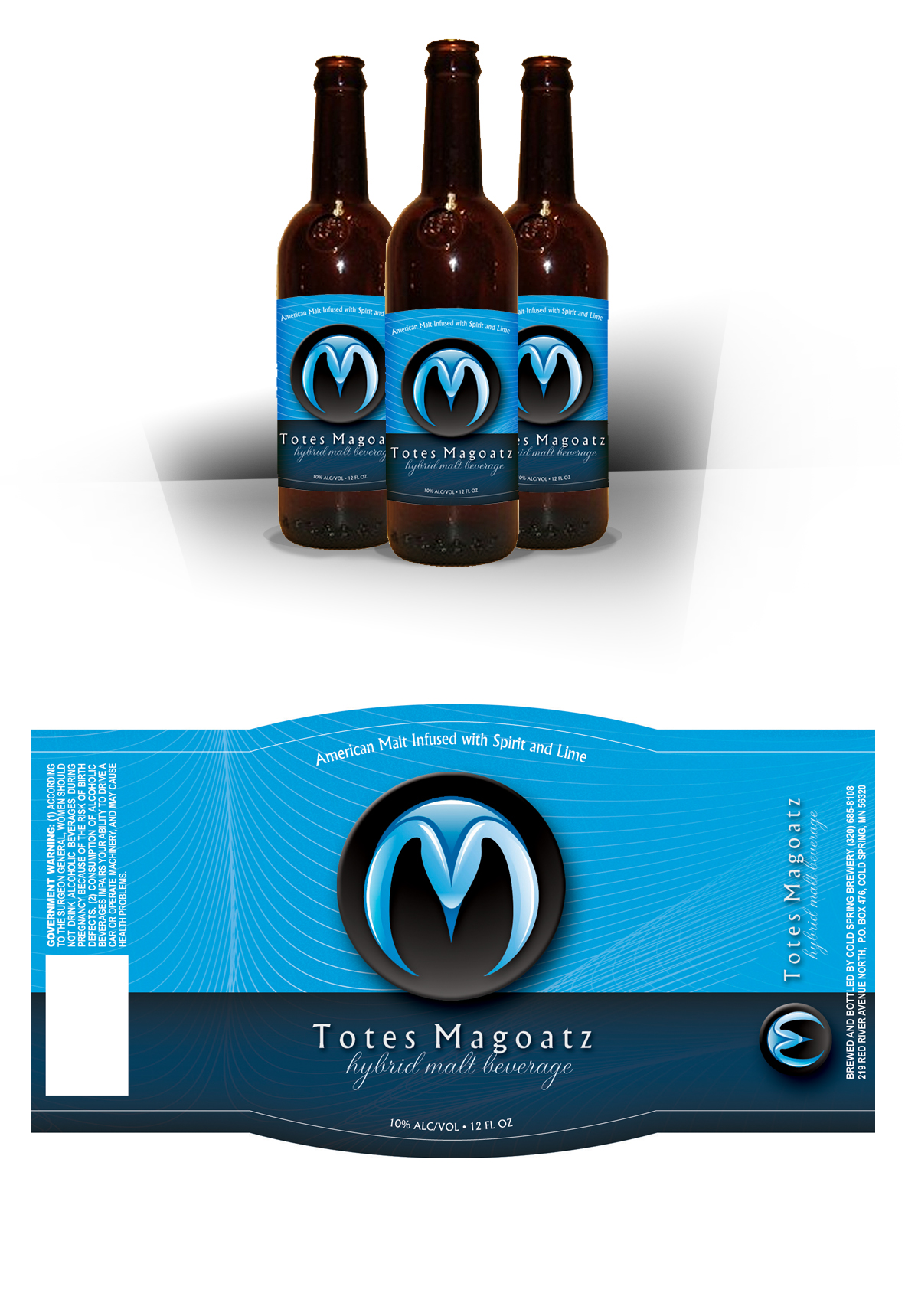 Totes Magoatz Label Design