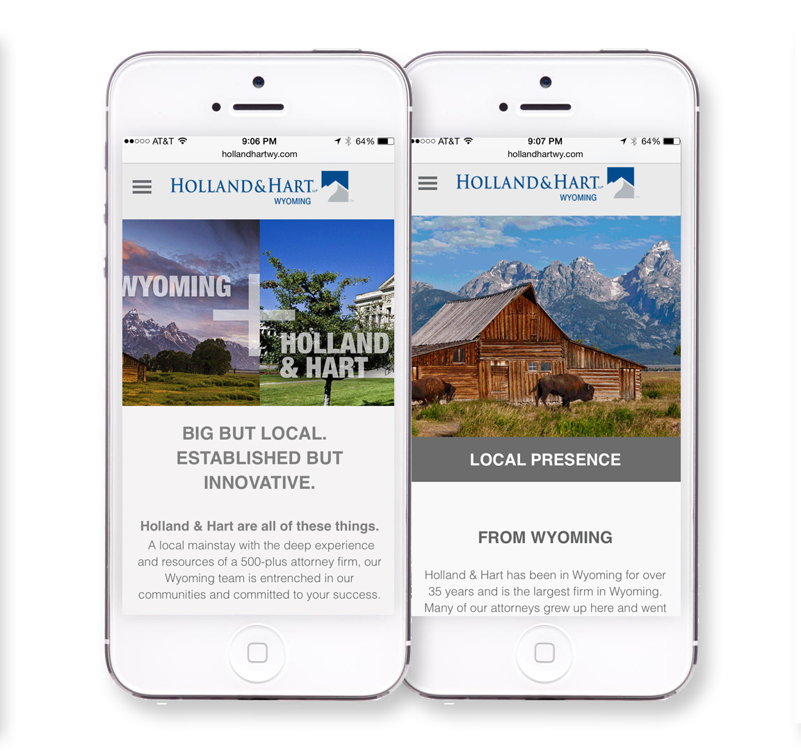 Holland & Hart Mobile Web Design