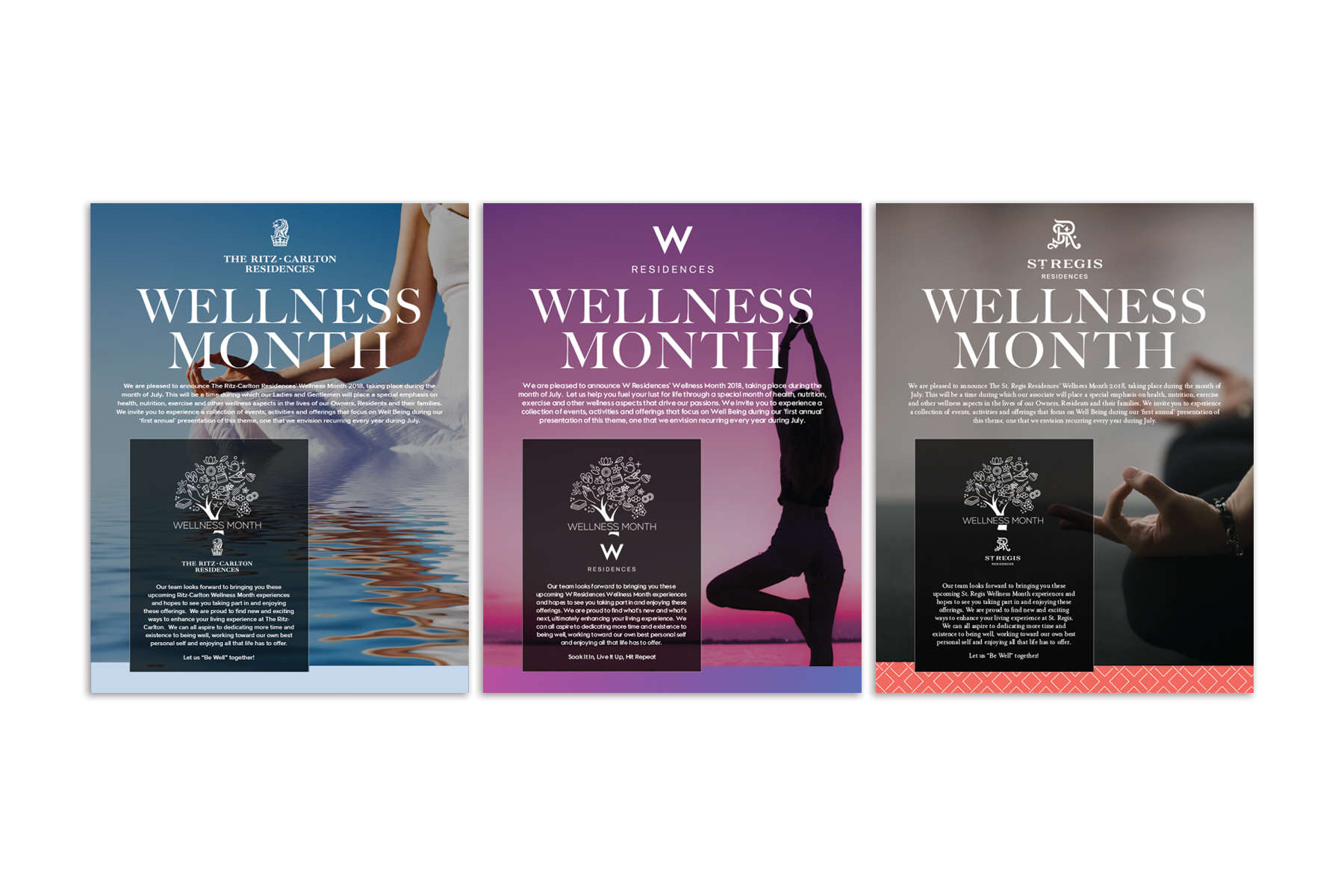 Marriott International Wellness Posters