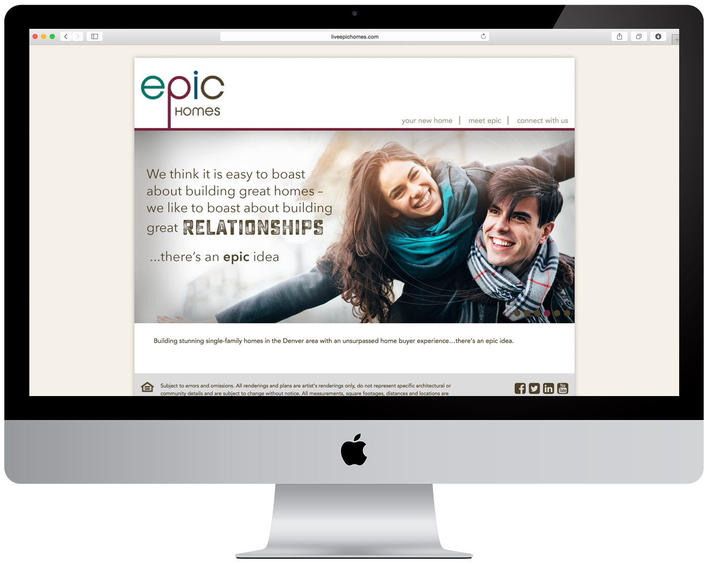 Epic Homes Website Design