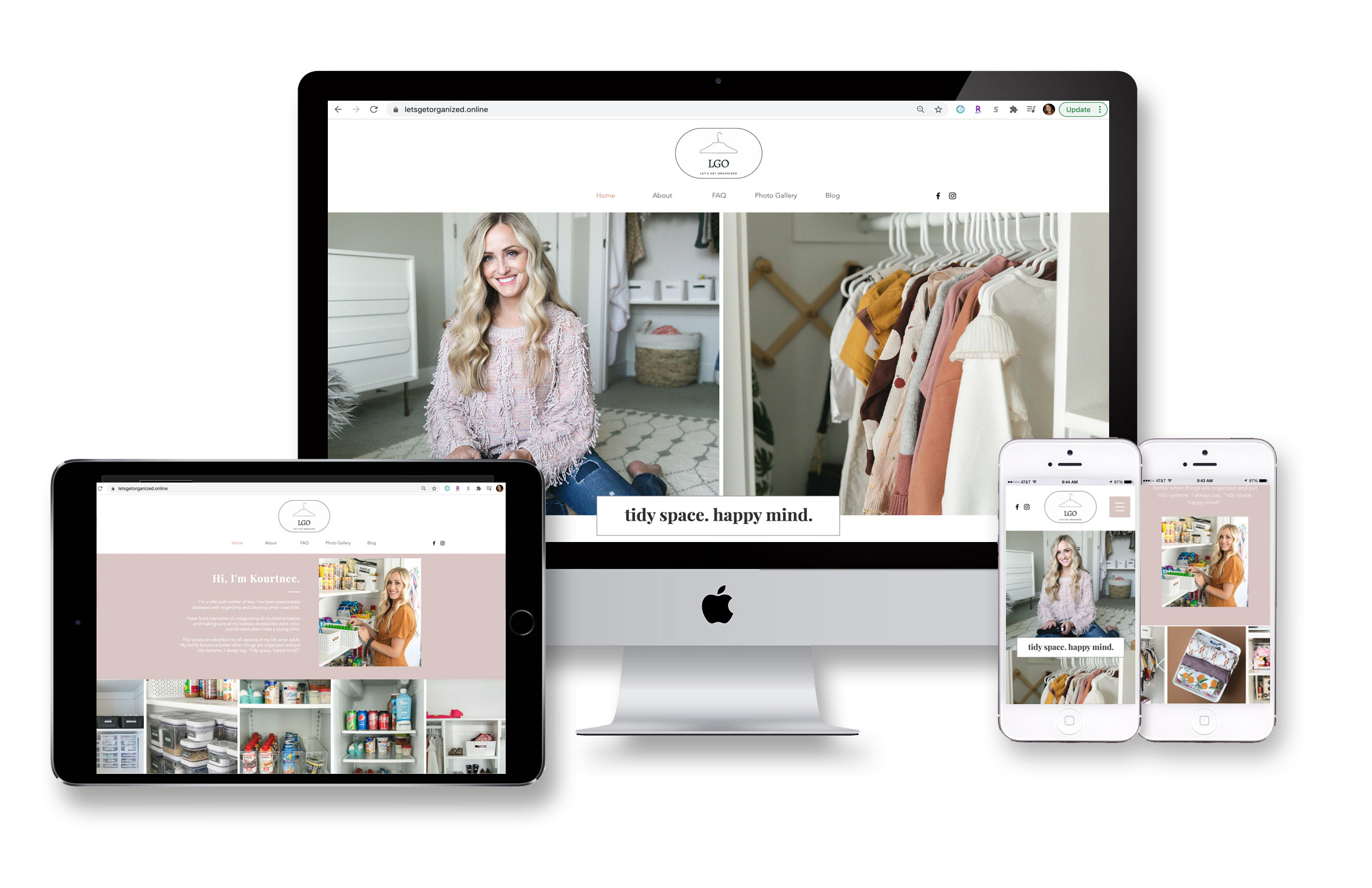 Let's Get Organized Website