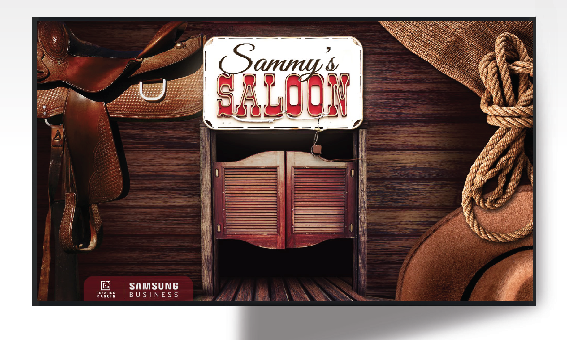 Sammy's Saloon -Samsung Video Screen